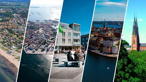 Falkenberg, Karlskrona, Kungsbacka, Stockholm, Uppsala