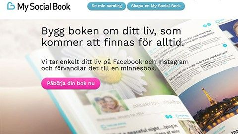 Shoppingtipset: Gör en bok av Facebook