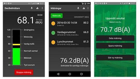 Ny app som mäter buller