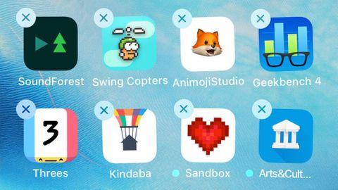 Radera appar på Iphone