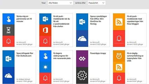Koppla ihop alla appar med Microsoft Flow