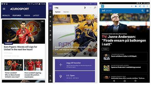 5 appar för bättre sportnyheter