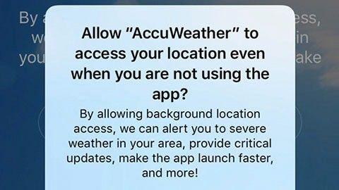 Accuweather delar mer platsdata än du kanske tror