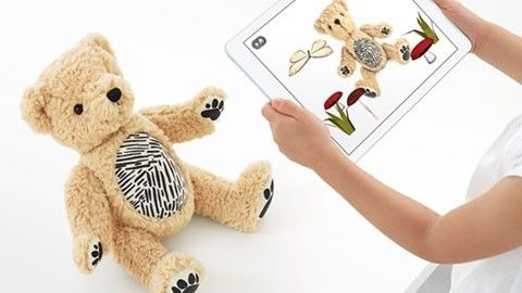 Augmented reality-teddybjörnen Parker