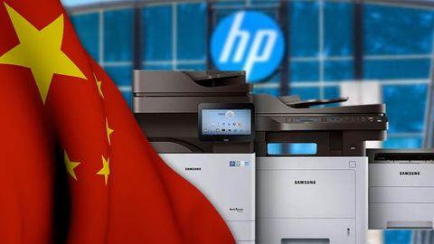 Kina, HP. Samsung-skrivare