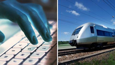 Hackare, tåg