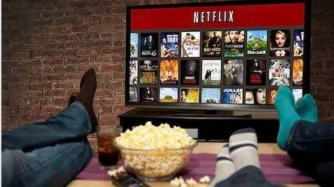 Netflix med popcorn