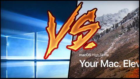 Windows 10 Fall Creators Update vs Mac OS High Sierra