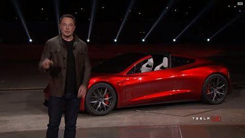 Tesla Roadster semi event