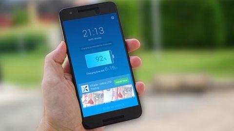Reklam på låsskärmen på en Android-telefon