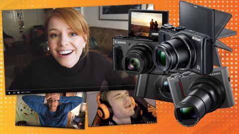 Vlogg-kamera video och foto