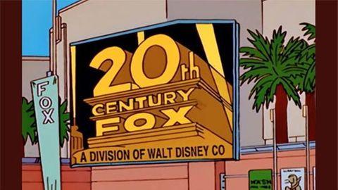 20th Century Fox som Disney-ägt från The Simpsons