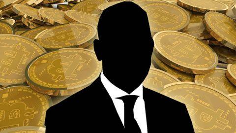 Bitcoin, silhuett