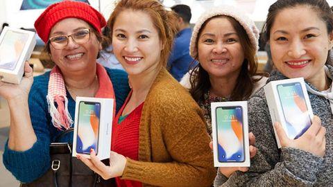 Glada Iphone X-köpare
