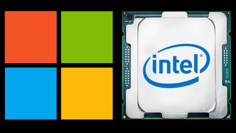 Microsoft-logotyp, Intel-processor