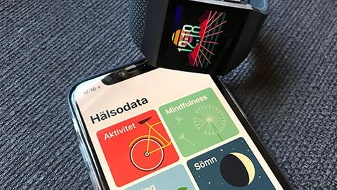Fitbit Ionic och Apples app Hälsa