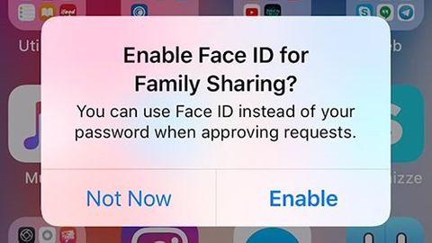 Face id för familjeköp