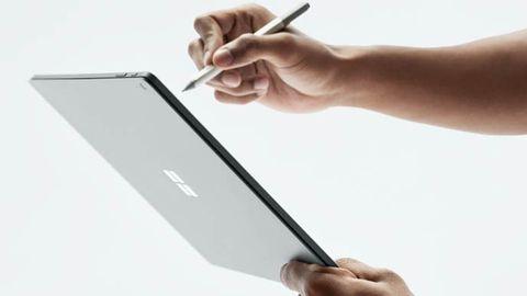 Ritande på Microsoft Surface
