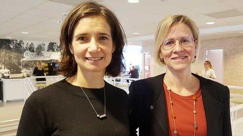 Petra Edlund (t.v) är affärsutvecklingschef på OKQ8.Eva Schreiber är cio.
