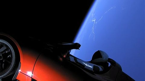 Falcon Heavy Tesla Roadster Mars