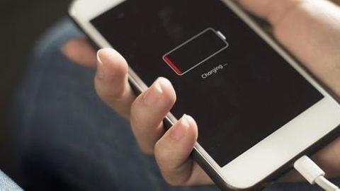 Iphone slut på batteri