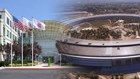 Apples gamla och nya högkvarter