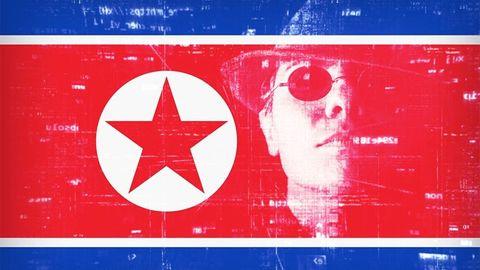 Nordkoreansk flagga