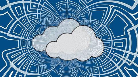 Illustration: Moln, nätverk