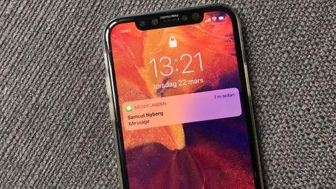 Notiser på Iphone