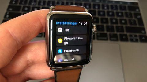 Inställningar Apple Watch