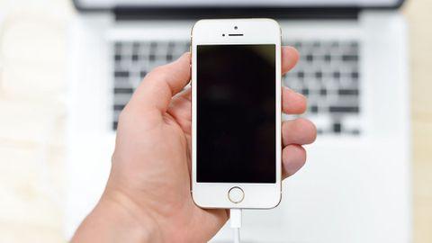 Iphone ansluten till dator med sladd