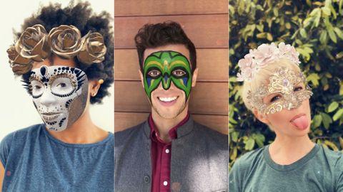 Nya ansiktsfilter i Snapchat