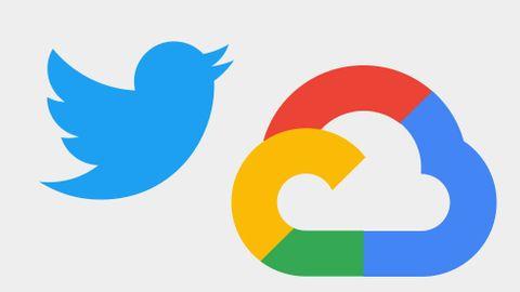 Twitters och Google Clouds ikoner