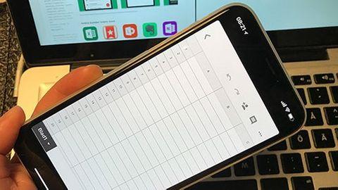 Iphone X-skärmen