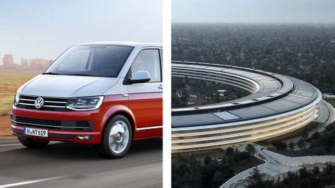 Volkswagen T6 Transporter och Apples huvudkontor
