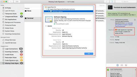 Signaturproblem påMac