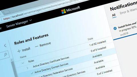 Skärmbild: Windows Admin Center