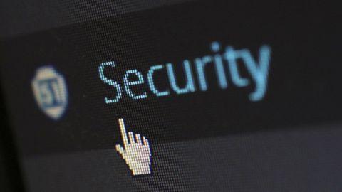 """Texten """"Security"""" inzoomad"""