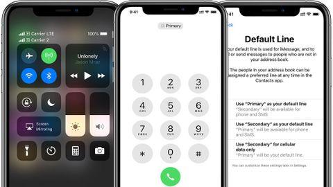 Iphone XS har stöd för dubbla simkort med e-sim