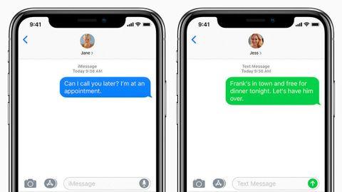 Imessage och sms