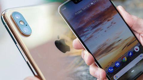 Iphone XS Max och Pixel 3