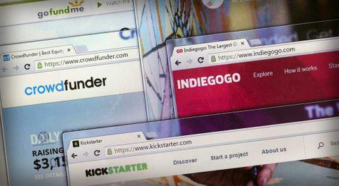 Crowdfunding Kickstarter, Indiegogo och Gofundme