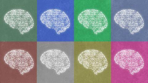 Illustration: Åtta hjärnor