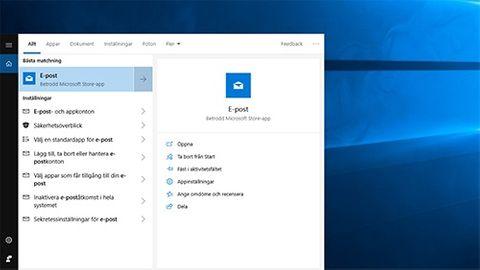 Windows 10 e-post