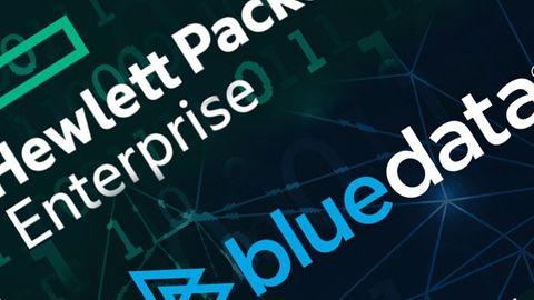 Logotyper: HPE och Bluedata