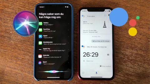 Siri vs Google Assistent på svenska