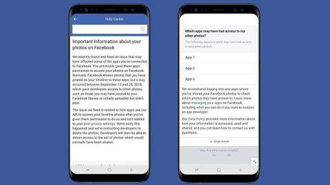 Facebooks meddelande om buggen