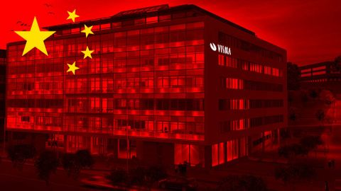 Vismas kontor, kinesisk flagga