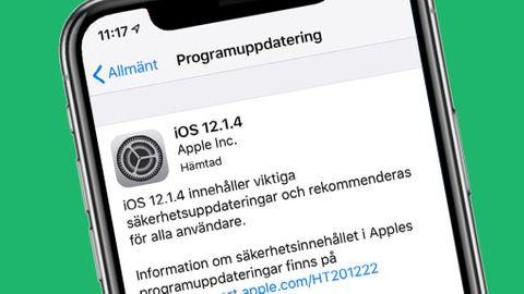 IOS 12.1.4-uppdateringen