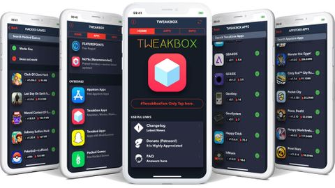 Tweakbox, en av flera alternativa appbutiker